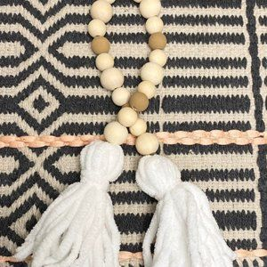 Hand Crafted Accents - Farmhouse boho beaded garland